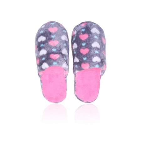 477ab34bfcc9 Basico - Basico Indoor Slipper Fuzzy Cozy Winter Fleece Non Slip Home Slip  on Shoes Gift Idea (1 2 3pk Slipper) - Walmart.com