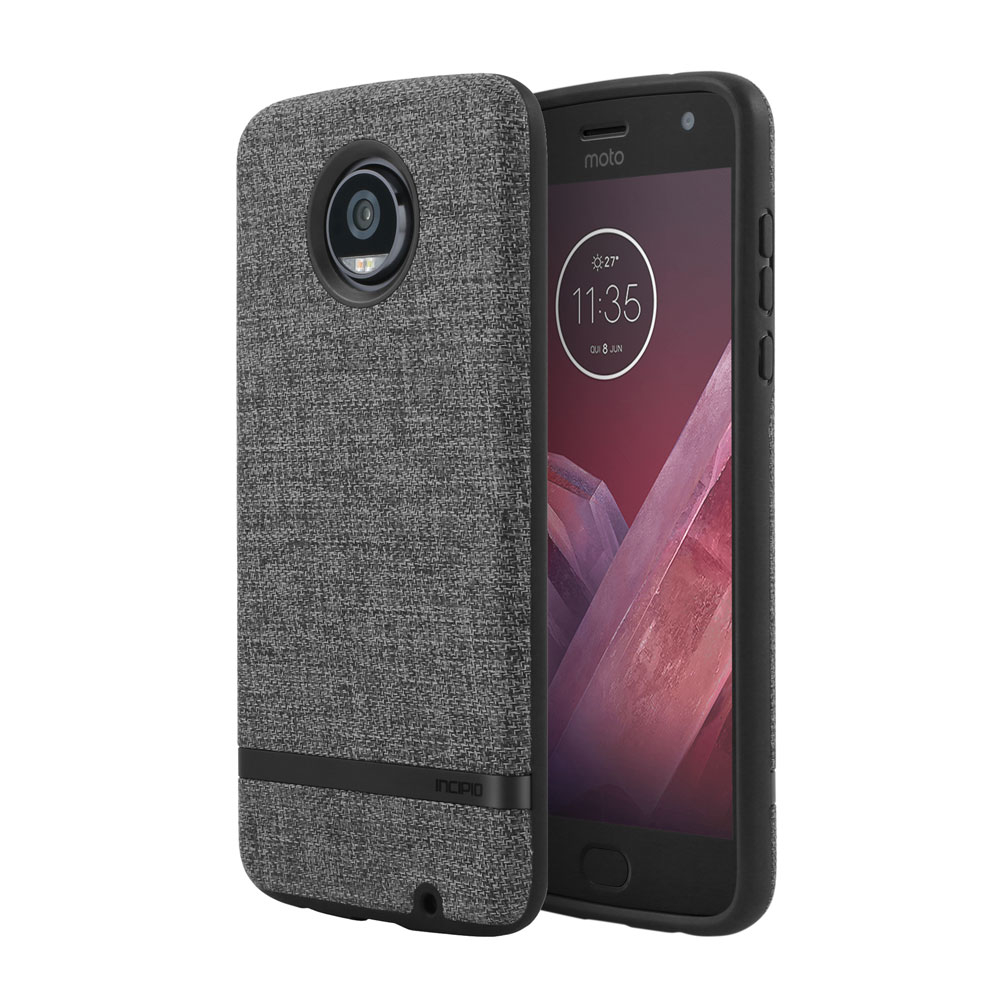 Incipio Carnaby Motorola Moto Z2 Play Case [Esquire Series] with Co-Molded Design and Ultra-Soft Cotton Finish for Motorola Moto Z2 Play -