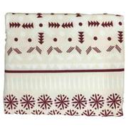 HD Heavyweight Ivory & Red Fairisle Flannel Sheet Set Queen Bed Sheets Bedding