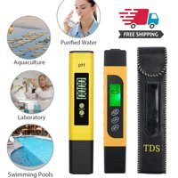 Digital LCD PH Meter Pen +TDS EC Temperature Tester Pen Water Food Drink Quality Monitor Tool