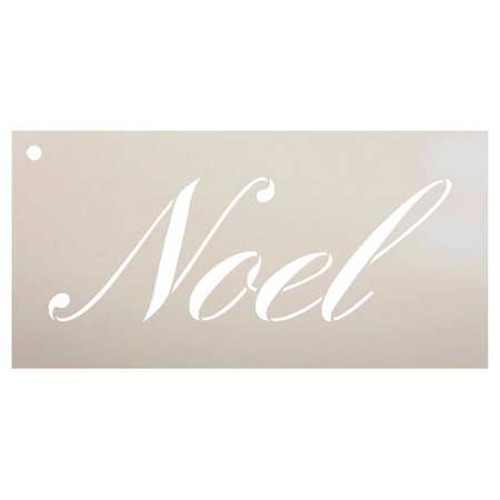 Noel Stencil by StudioR12 | Reusable Mylar Template | Use for Painting Wood Signs - Pillows - Cards - Ornaments - DIY Christmas Decor - Select Size (12