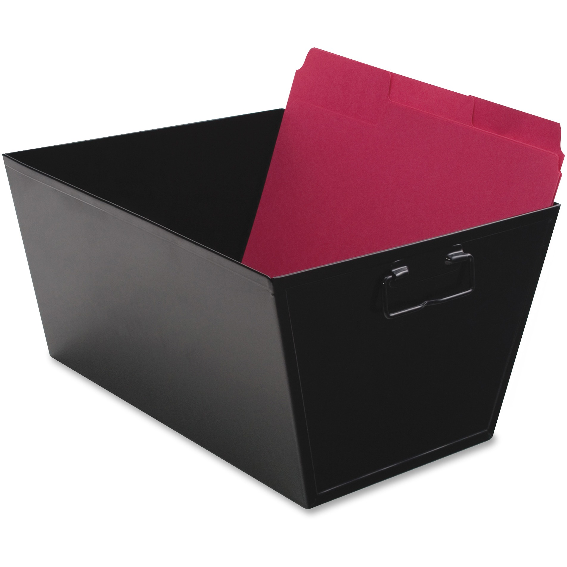 Advantus Steel File and Storage Bin, Letter, 12 1/8 x 11 1/4 x 7 3/8, Black
