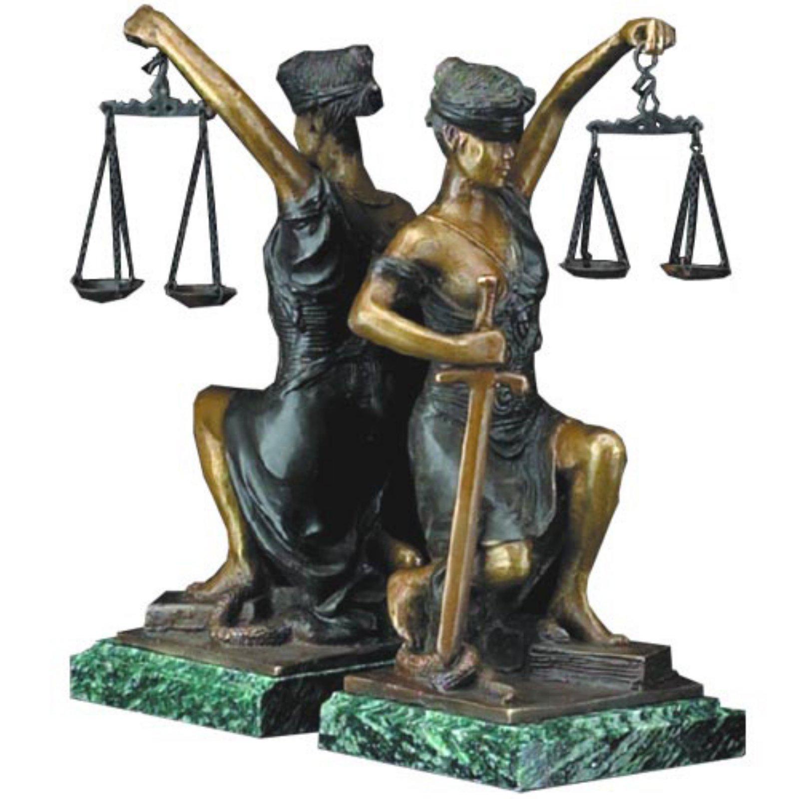 Bey Berk Kneeling Lady Justice Bookends