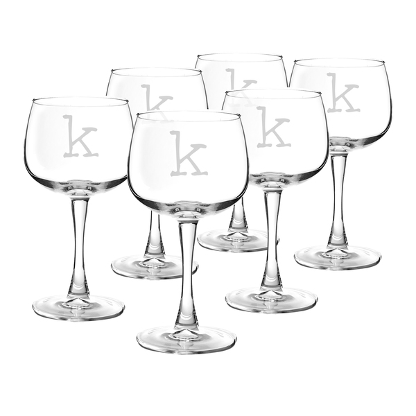 Personalized 13 oz. Red Wine Glasses (Set of 6)