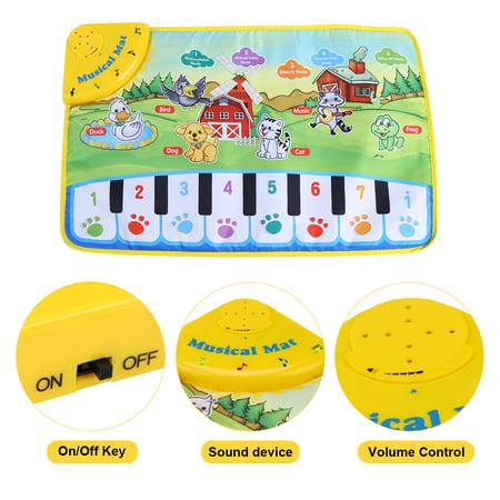 WALFRONT Baby Music Mat Children Crawling Piano Carpet Educational Musical Toy Kids Gift - image 6 of 9