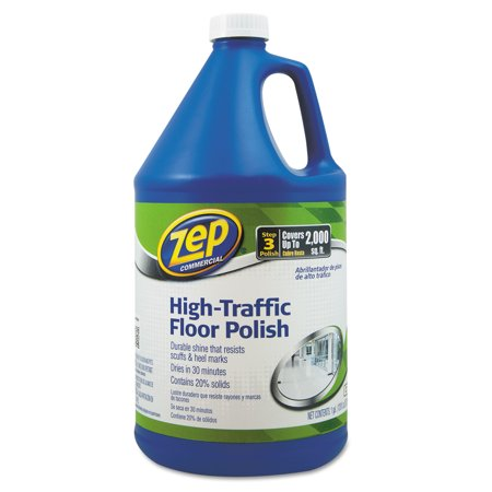 Zep Commercial, ZPE1044999, High-Traffic Floor Polish, 1 Each, Clear,Green