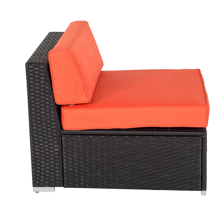 Kinbor 2-pieces Outdoor Patio Furniture Sectional Pe Wicker Rattan Sofa Set