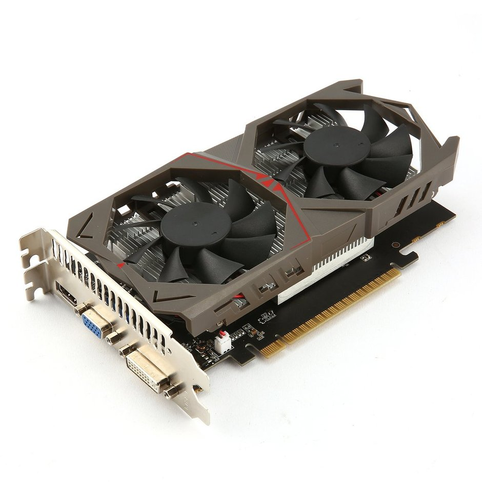 128Bit Graphics Card for GTX1050 GPU 2G GDDR5 Gaming Video Card with Dual  Fan