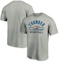 Men's Fanatics Branded Gray Oklahoma City Thunder Large Logo Arc T-Shirt
