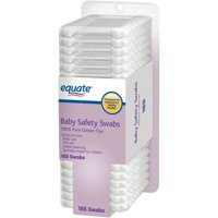 (2 Pack) Equate Baby Safety Swabs, 185 Ct