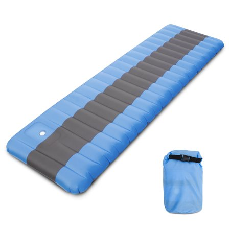 Inflatable Camping Mat Air Sleeping Pad with Built-in Foot Pump Inflating Ground Pad Mat Mattress Camping Backpacking Hiking