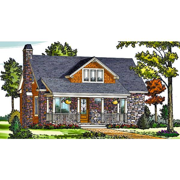 TheHouseDesigners-6643 Cottage House Plan with Crawl Space Foundation (5 Printed Sets)
