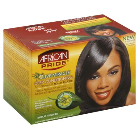 African Pride® Olive Miracle® Regular Deep Conditioning Anti-Breakage No-Lye Relaxer Kit