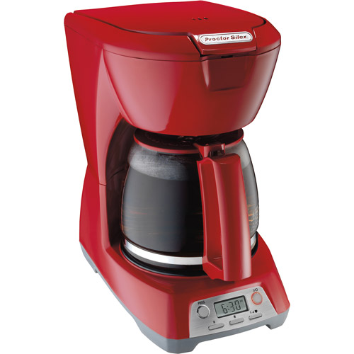 Programmable 12-Cup Coffeemaker, Red
