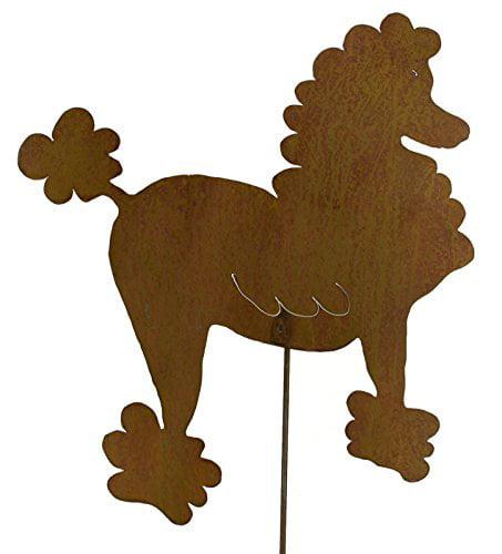 Poodle Decorative Metal Garden Stake