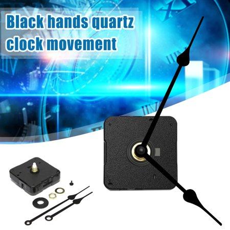 Requires High Torque Movement - 1Pc Black Hands Hight Torque Quartz Clock Movement Long Spindle Repair Tools Parts DIY Replacement Kit