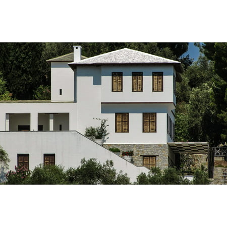 Traditional Houses Greece (LAMINATED POSTER Greece Traditional Architecture White House Poster Print 24 x 36 )