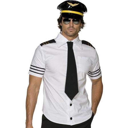 Smiffys Airline Captain Mens Airplane Pilot Halloween Costume L - Smiffys Halloween Costumes