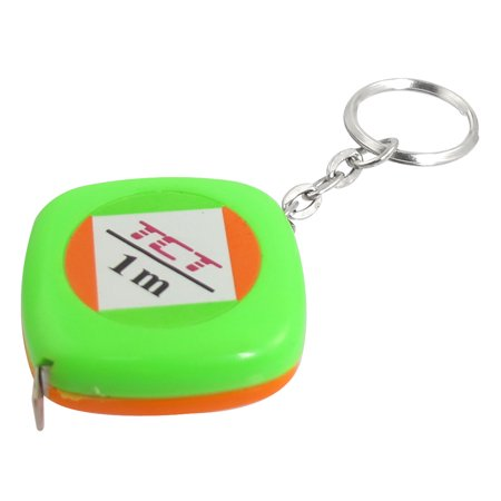 - Unique Bargains 3FT 39 Inches 1 Meter Tape Measuring Tool Keyring Key Chain Green Orange