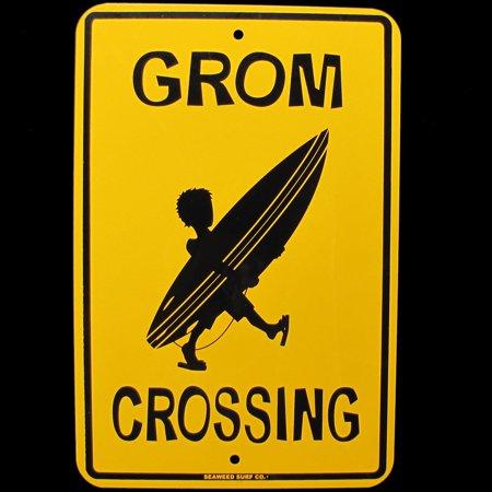 Grom Crossing Sign, Eye-catching modern design on sturdy aluminum! By (Modern Grade Crossing)