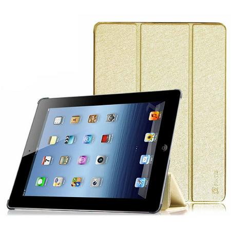 huge selection of f3c40 f01ba Fintie SmartShell Case for Apple iPad 4th Generation with Retina Display,  iPad 3 & iPad 2, Gold