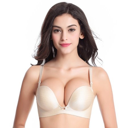 Sexy Padded Push Up Bra Women Lady Comfort Seamless Back Closure Enhancer Underwire Bras Pretty Sexy Underwire Gel Pad
