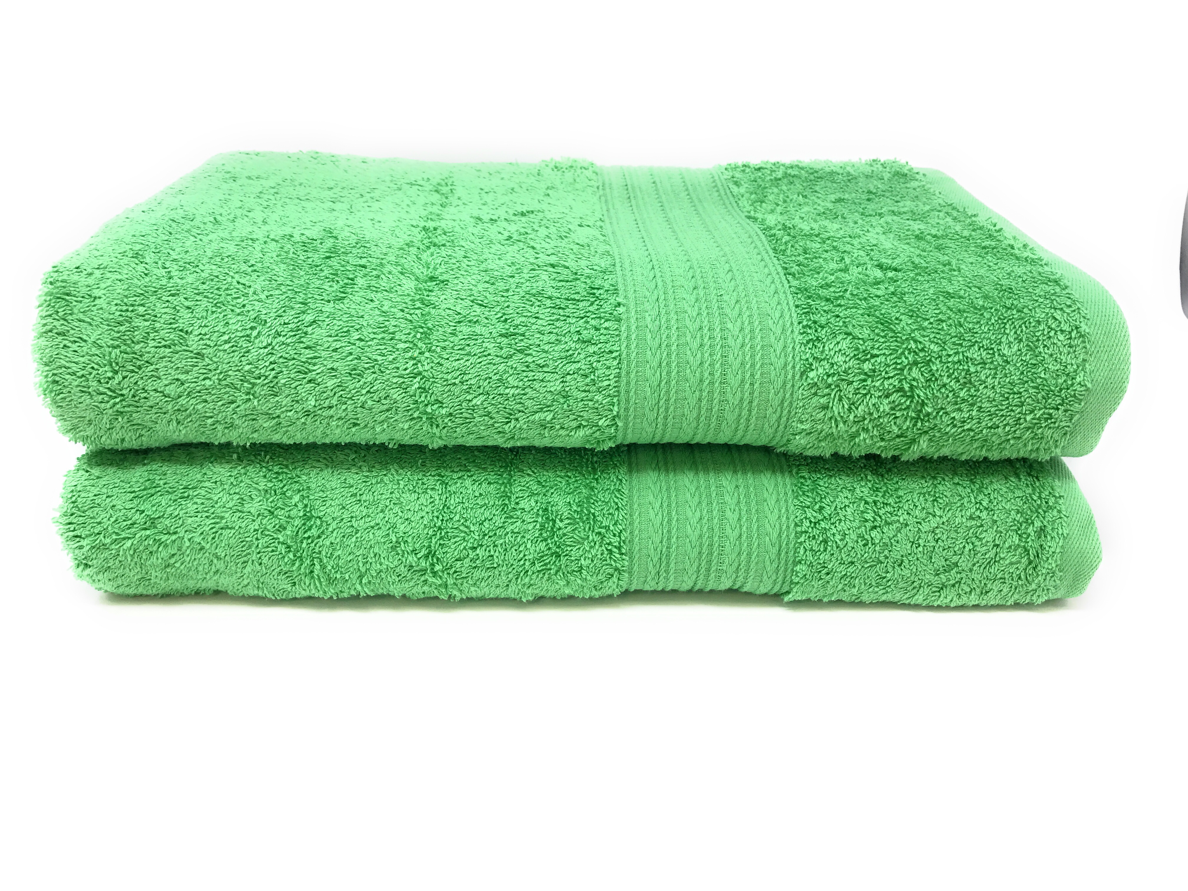 Goza Towels Cotton Bath Towels (2 Pack, 28 by 56 inches) Light Green by