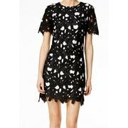 Calvin Klein NEW Black Womens Size 6 Crewneck Lace Overlay Sheath Dress