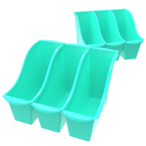 STOREX 3 Compartment Cubby Bin (Set of 6)