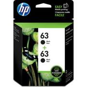 HP 63 Ink Cartridges - Black, 2 Cartridges (T0A53AN)
