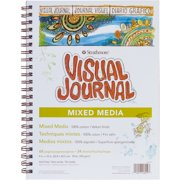 """Strathmore 500 Series Visual Mixed Media Journal, 9""""x12"""" Vellum, Wire Bound, 34 Sheets"""