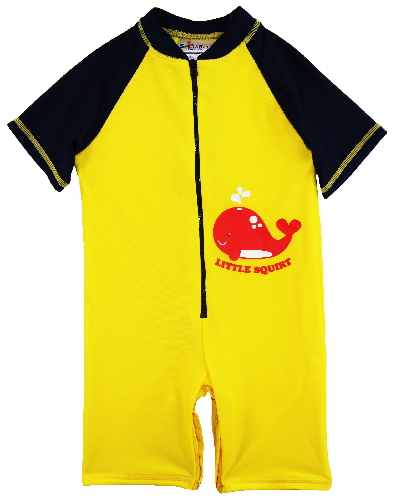 Sweet & Soft Toddler Boys Swimwear Whale Squirt Rashguard Beach Swimsuit