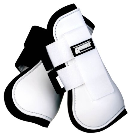 Roma Neoprene Lined Open Front Boots, White - Roma Open Front