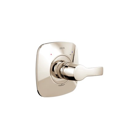 Delta Tesla Monitor 14 Series Valve Only Trim, Polished Nickel 13 Series Chrome Trim Valve