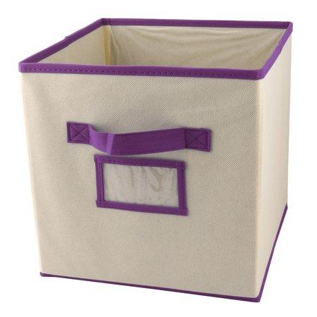 Household Non-woven Fabric Clothes Gloves Holder Storage Box Organizer Purple (Purple Storage Bins)