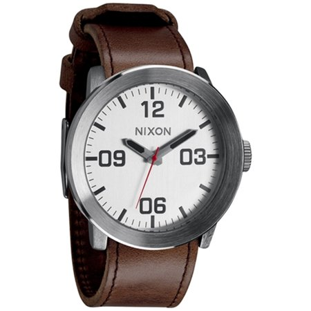 Nixon Men's Corporal A2431113 Brown Leather Quartz Fashion Watch