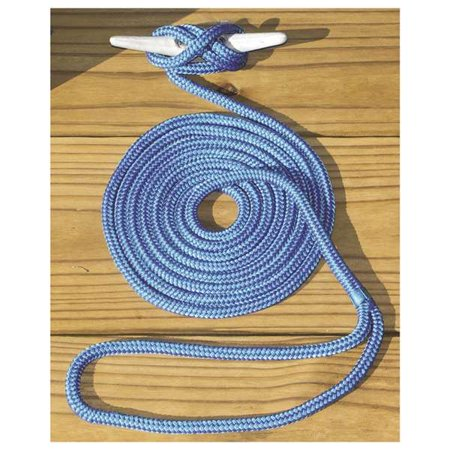 Double Link Rope (Boater Sports BLUE 1/2 X 15 ft. Double Braided Docklines - Nylon Rope)