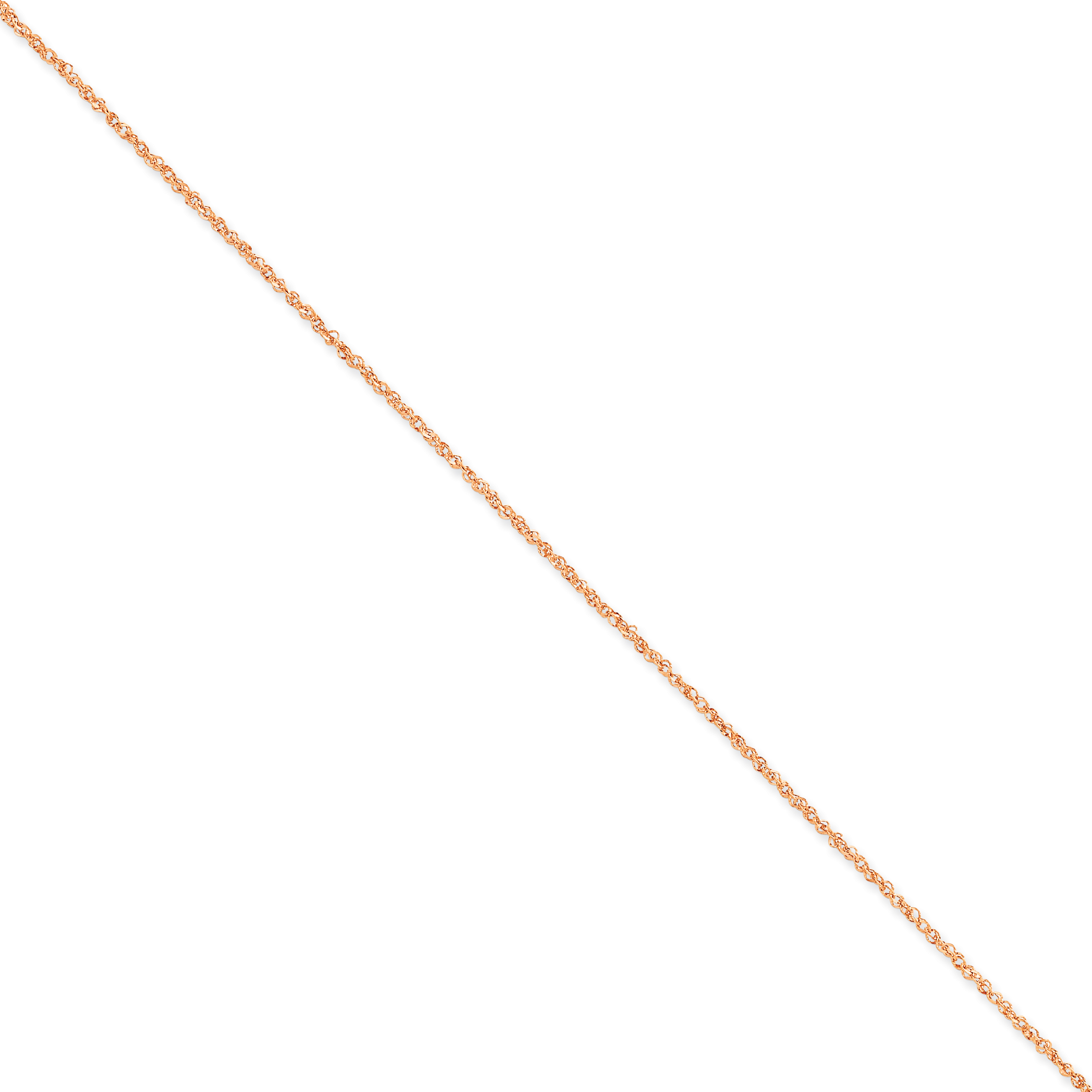 14k Rose Gold 1.7mm Ropa Chain Anklet Ankle Beach Bracelet Fine Jewelry Gifts For Women For Her - image 4 of 4