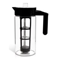 Zell Cold Brew Coffee Maker | Best Home Iced Coffee & Tea Maker | Removable Coffee Fine Mesh Filter | Strong Borosilicate Glass Cold Coffee Maker | BONUS Fruit Infusion Filter | 1 Quart (1000 ml)