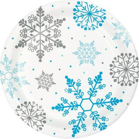 Creative Converting Winter Snowflake Dessert Plates, 18 ct - Snowflake Plate