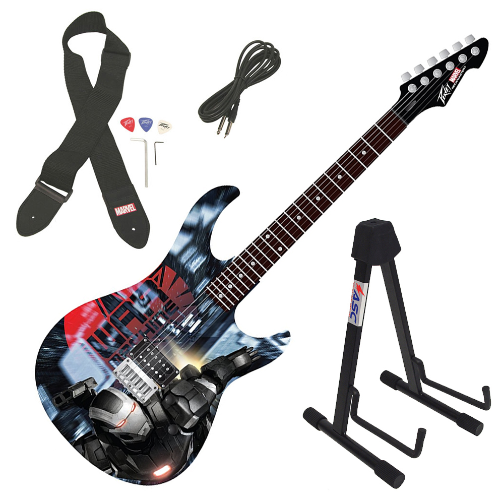 Peavey Rockmaster Marvel Iron Man 3 War Machine Full Electric Guitar & Stand