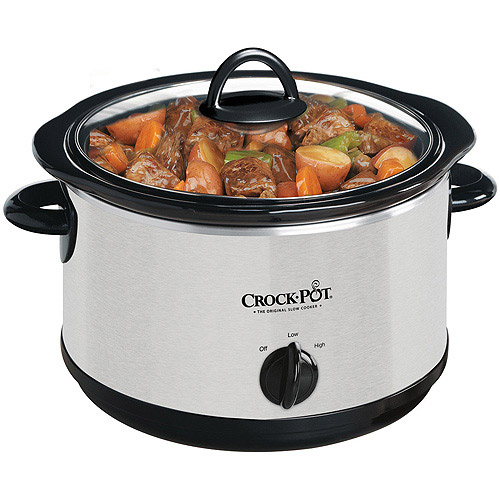 Crock-Pot 4-Quart Oval Slow Cooker, Silver