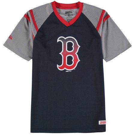 best website 08566 47b0f Boston Red Sox Stitches Youth Mesh V-Neck Jersey T-Shirt - Navy/Red