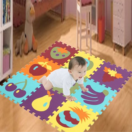 9PCS Cartoon EVA Foam Soft Puzzle Mat Children Baby Playmats Crawling Carpet Mat - Crawling Man