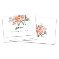 Personalized Floral Mason Jar Wedding RSVP Cards