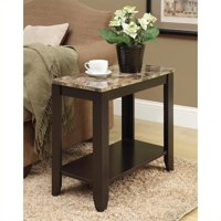 Monarch Accent Table Cappuccino / Marble Top