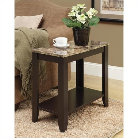 Monarch Accent Table Cappuccino / Marble Top ()