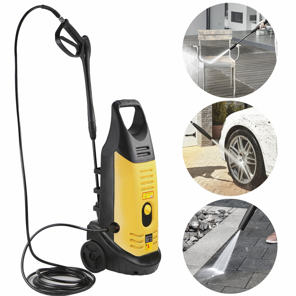 STKUSA 2000W High Pressure Washer Electric Jet Sprayer, 3000PSI