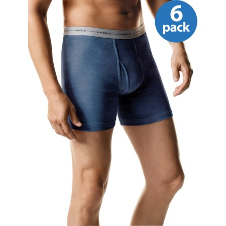 Hanes Mens' ComfortSoft Tagless Boxer Briefs, 5 + 1 Bonus (Cowhide Leather Briefs)