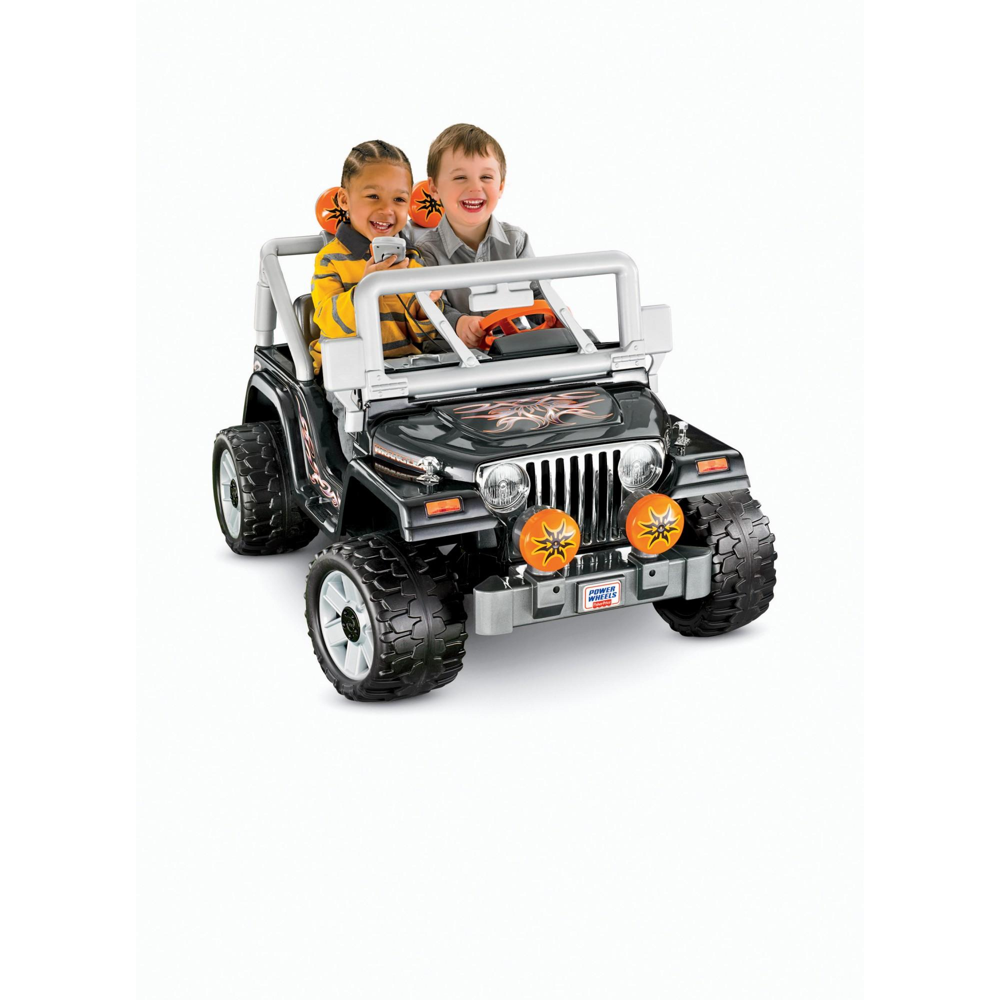 Power Wheels Black Tough Talkin' Jeep 12-Volt Battery-Powered Ride-On by Fisher-Price